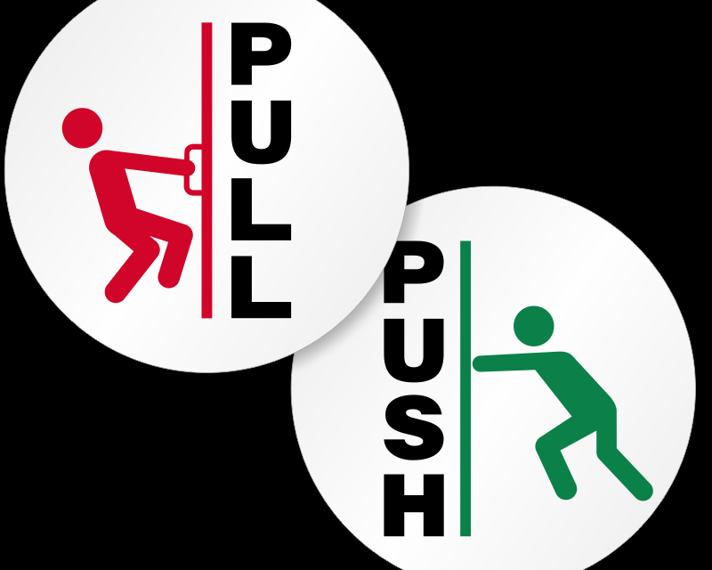 »PULL« in »PUSH« princip